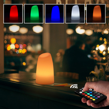 5W 16 colors RGB remote control Bar desk LED night light dimmable 1000mah rechargeable LED lamp waterproof outdoor garden light remote rgb control waterproof 100% plastic led night light v v a004