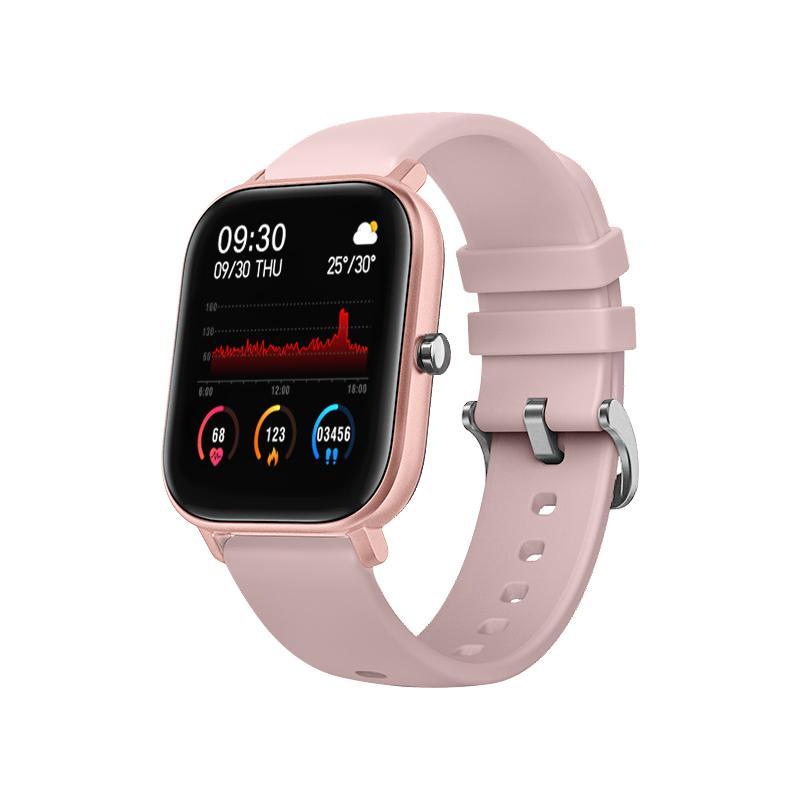 Relógio inteligente p8 masculino mulher 1.4 polegada tela de toque completo rastreador fitness
