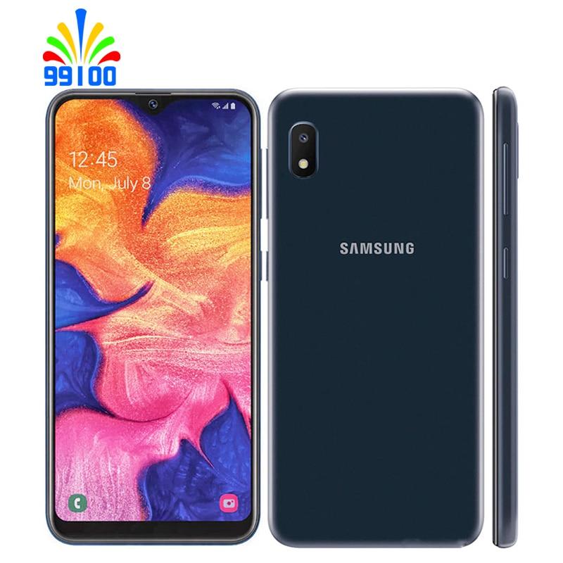 Восстановленный разблокированный сотовый телефон Samsung Galaxy A10E, полный экран 5,85 дюйма, 2 ГБ + 32 ГБ, 1 Sim-карта, Восьмиядерный, 4G-LTE, распознавание л...