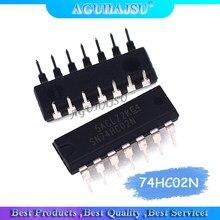 10PCS 74HC02N 74HC02 DIP14 SN74HC02N DIP Novo original