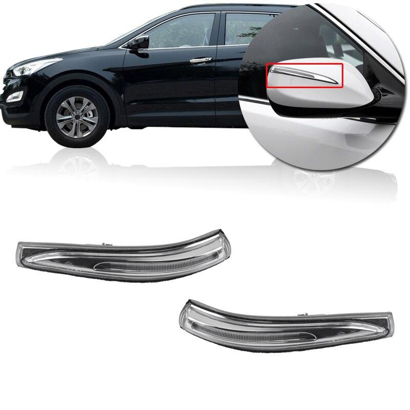 Автомобильный зеркальный светильник заднего вида, светильник указателя поворота для Hyundai Santa Fe Sport 2014 2015 2016 87613 2W000 87623 2W000| |   | АлиЭкспресс