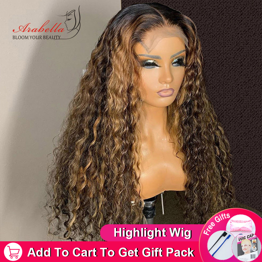 ARABELLA Deep Wave Lace Closure Wig 13X4 Lace Frontal Wig With Baby Hair  Pre Plucked Deep Curly Wig Glueless Lace Front Wig 6