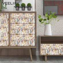 Vinyl Waterproof Wallpaper Peel and Stick Floral Pattern Furniture Stickers European Pastoral Style Decor Contact Paper In Rolls