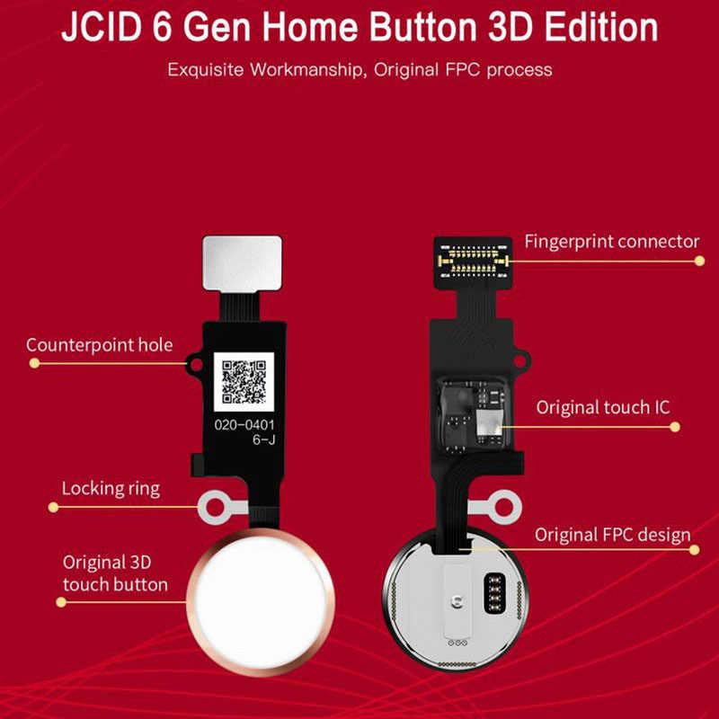 ZONBEMA oryginalny uniwersalny JC 6th 3D przycisk Home Flex Cable dla iPhone SE 7 8 Plus klawiatura Menu powrót On Off Fuction Solution
