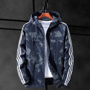 Image 4 - Chaqueta de camuflaje con capucha para hombre, chaqueta de lona militar, Parka, talla grande, 10XL, 9XL, 8XL, 7XL