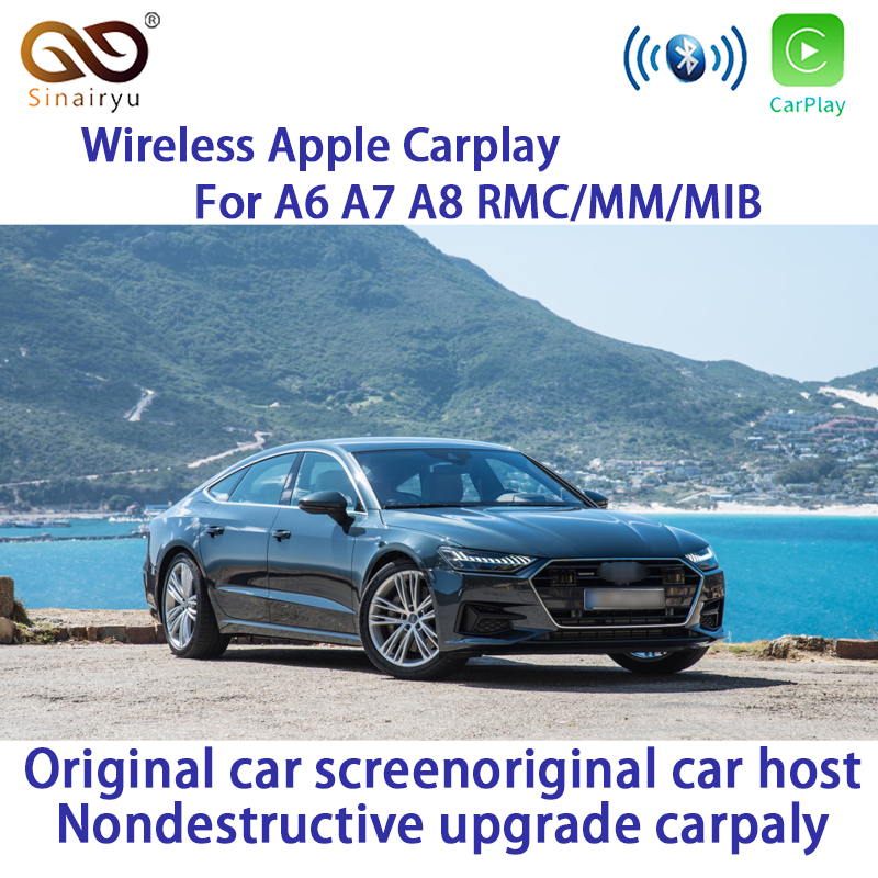 Sinairyu WiFi Wireless Apple CarPlay for Audi A6 C7 2012-2017 MMI RMC Small 6.5 7 Screen OEM Retrofit support Reverse Camera image