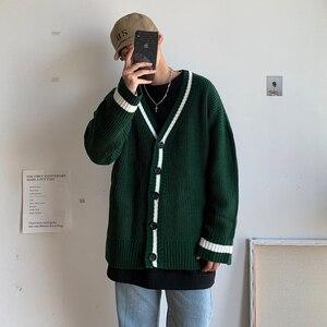 2019 jesień i zima nowa japońska dziergany sweter mężczyźni luźne koreańska wersja sieci Harajuku jednolity kolor sweter na co dzień