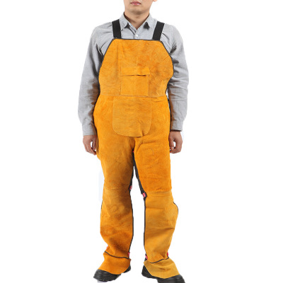 Flame Retardant Overalls Welding Welder Boilersuit Coverall Cowhide Leahter