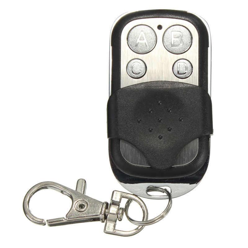 ABCD 4 ปุ่มรีโมทคอนโทรลไร้สาย RF 433MHz ประตูโรงรถประตูรีโมทคอนโทรล Key Fob Controller สำหรับสวิทช์