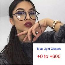 Stilvolle Runde Lesen Brillen Männer Frauen Brillen Rahmen Hyperopie Presbyopie Lupe 0 bis + 6,0 Anti Blau Rays