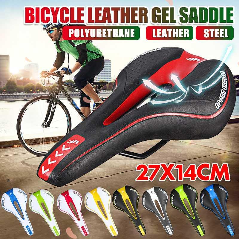 Red Comfort Bike Road Mountain MTB Gel Saddle Bicycle Cycling Seat Cushion Pad