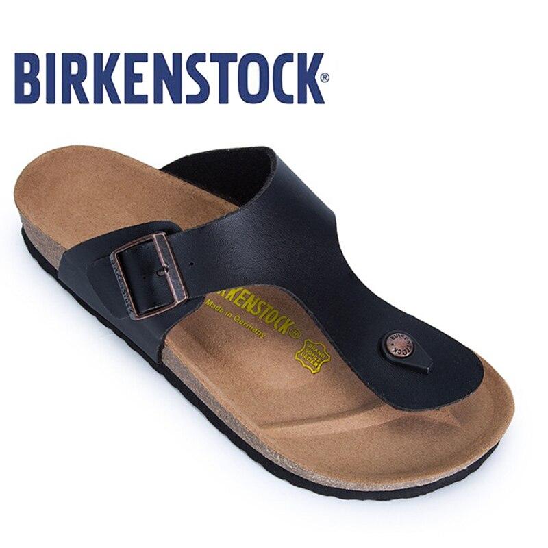 Original BIRKENSTOCK Women Flip Slippers Women Beach Slippers Gizeh Birko-Flor Erwachsene Sandal Slippers 801 Women Flip Flop