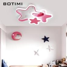 BOTIMI Kids Room 220V LED Ceiling Lights In Stars Shape White Lamp For Bedroom Girls Pink Lighting Fixtures