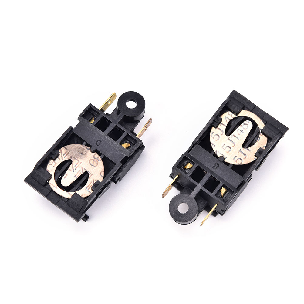 2pcs 13A Electric Kettle Thermostat Switch 2 Pin Terminal Kitchen Appliance Parts 46x21mm