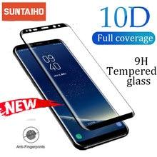 Suntaihoフル曲面スクリーン三星銀河注10 S8 S9プラス注8 9強化ガラスフィルムサムスンA6 A8 2018