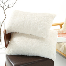 Pillowcase Faux-Fur Fluffy Home-Decor 2pcs Without Chair-Bed Filling Soft-Sofa Shaggy