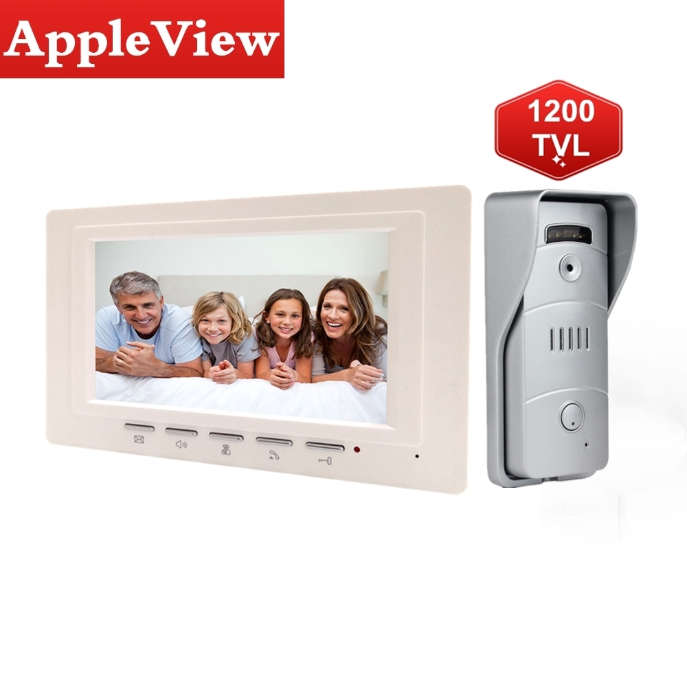 Video Door Phone Doorbell Wired Video Intercom System 7-inch Color Monitor And 1200TVL HD Camera With No Disturb Mode