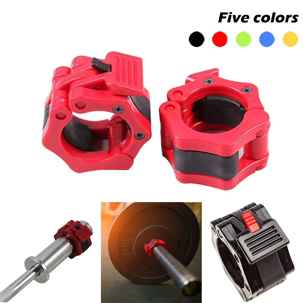 2Pcs Dumbbell Locking Buckle Barbell Rod Clamp Fitness 50mm A Pair ABS Lock Jaw Collar Training Muscle Clamp Bar Barbell Buckle