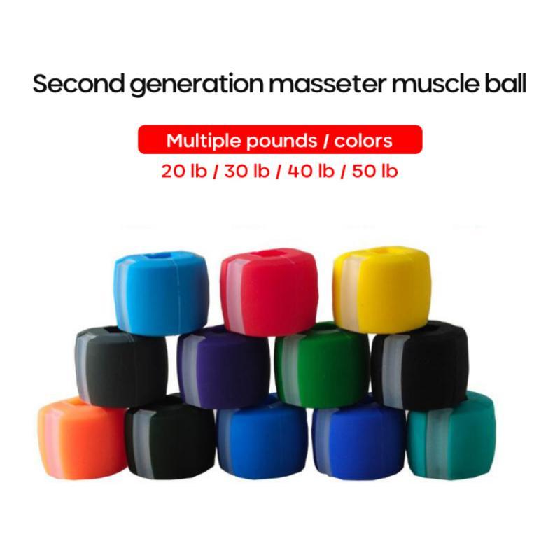 4 шт. 2020, улучшенные средства, многоцветный тренажер для лица с тонером для челюсти и шеи, тонизирующее оборудование, шарик для фитнеса и лица...