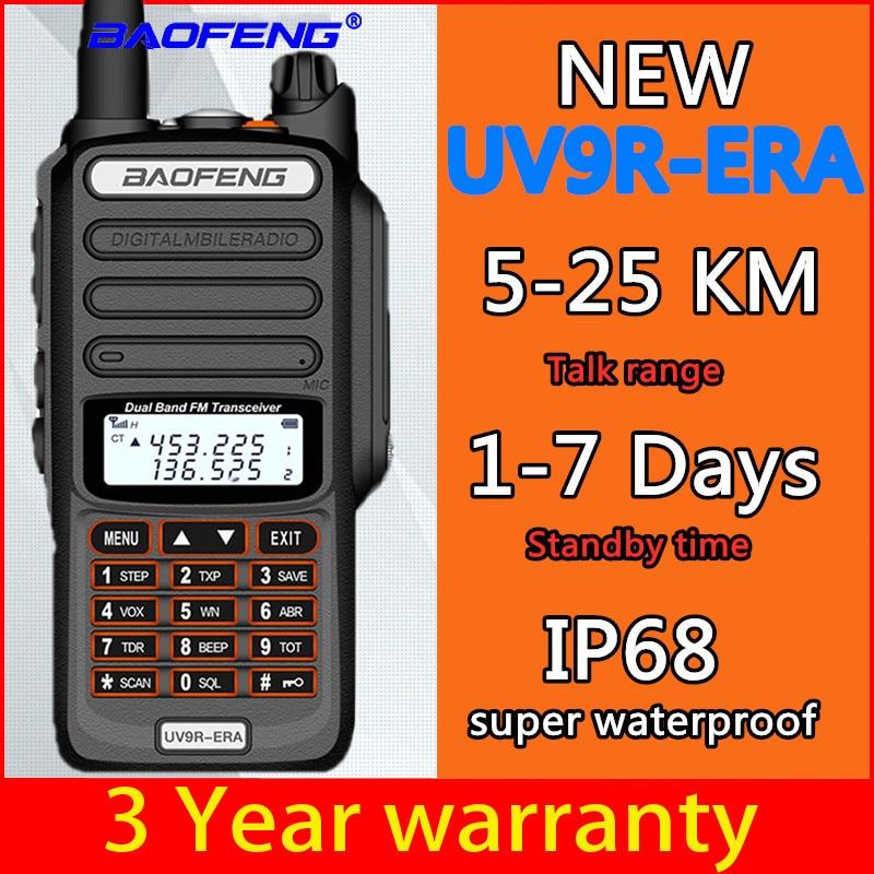 Baofeng New Walkie-talkie Long Distance 25km Baofeng Uv-9r ERA Plus Cb Ham Radio HF Transceiver UHF VHF Radio IP68 Waterproof