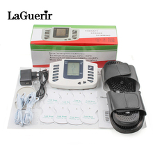 New Russian button Electrical Muscle Stimulator Body Relax Muscle Massager Pulse Tens Acupuncture Therapy Slipper+8 Pads+box