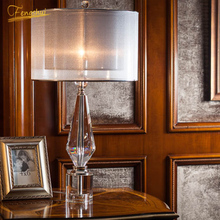 Nordic Luxury LED Table Lamp Lighting Modern K9 Material Crystal Minimalist Lights Study Bedroom Dining Room Lamps