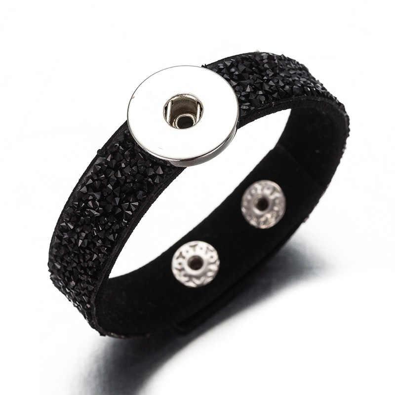 Crystal Rhinestone Bracelet for18mm snaps button  feminine charm bracelet jewelry HW01