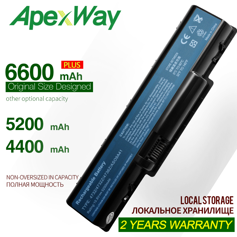 ApexWay Laptop Battery For ACER AS09A31 AS09A41 AS09A51 AS09A61 AS09A71 AS09A73 AS09A75 AS09A90 AS09A56 5732 4732 5516 5517