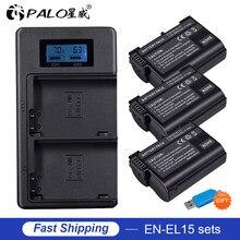 EN-EL15 EL15 EN-EL15a ENEL15a EN EL15a Battery+USB Dual Charger for Nikon D850 D810 D810A D750 D500 D7500 D7200 D7100