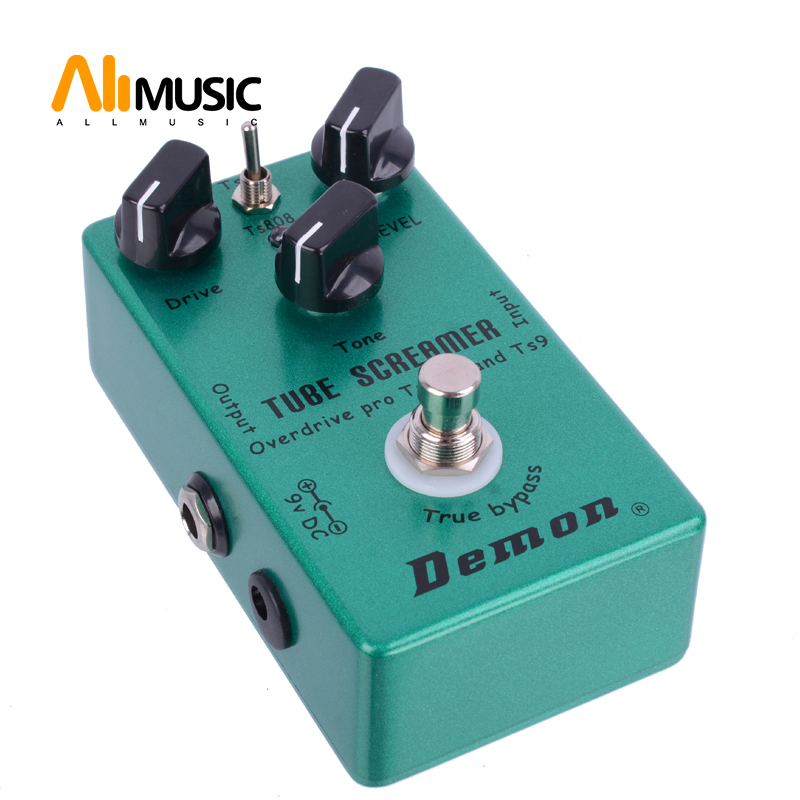 Demon Pedal TS9 and <font><b>TS808</b></font> Tube Screamer 2 in 1 Overdrive Pro Vintage And True Buypass pedal de guitarra image