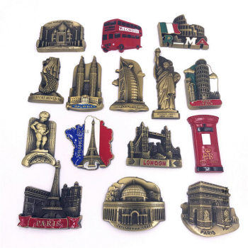 World Landmark Fridge Magnet 1