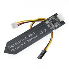 Емкостный сенсорный экран аналоговые влажности почвы Сенсор, 3,3~ 5,5 V коррозионно-стойкие с гравитационным 3-х контактный интерфейс для Raspberry
