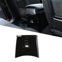 1 Pcs Glossy Black Carbon Fiber Silver ABS Chrome For BMW X1 E84 2011 2015 Car Accessories Rear Anti skid Cover Panel Trim