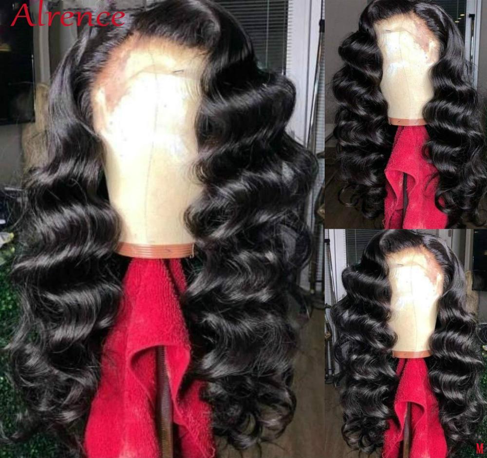 Парик на прозрачной сетке HD, бразильский свободный волнистый парик для женщин, 13x4, парики из человеческих волос на сетке спереди, Remy, 150 предв...
