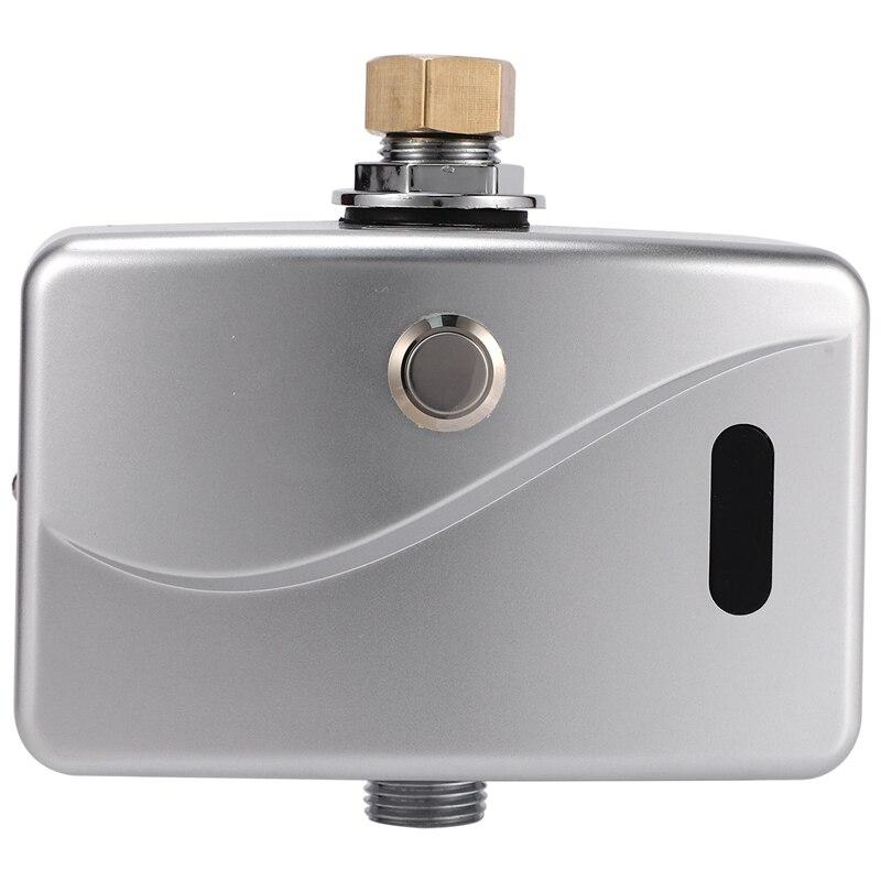 Automatic Electric Urinal Flush Valve Sensor&Manual 2 Function Exposed Wall Mount DC6V Urine Flushing