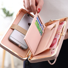 Women Leather Purse Wallets Female Money Bag Coin Purses Lon