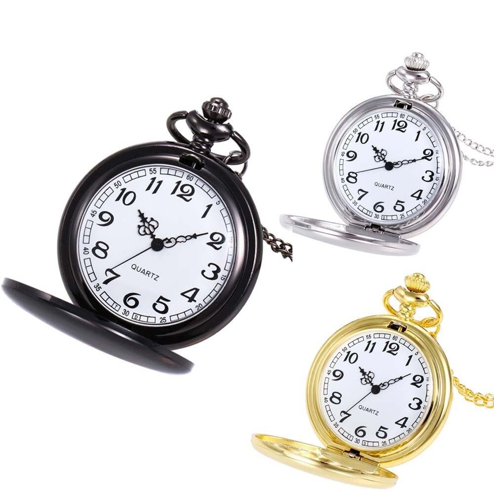 Crown Unisex Fashion Bronze Chain Necklace Pocket Watch