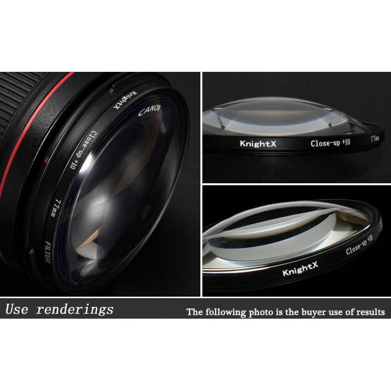 Knightx Makro Close Up Filter Lensa Kamera 10 + untuk Canon EOS Sony Nikon 400D D5300 200D 1300D D600 49 MM 52 Mm 55 Mm 58 Mm 62 Mm 67 Mm
