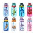 Детская чашка для воды, 480 мл, креативные Мультяшные чашки для кормления с соломинкой, герметичные бутылки для воды, уличная портативная бут...