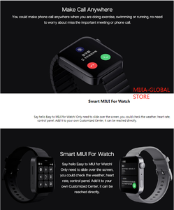 Image 3 - 2020 Xiaomi Mi izle GPS NFC WIFI ESIM telefon görüşmesi bilezik Android akıllı kol spor Bluetooth spor kalp hızı monitörü