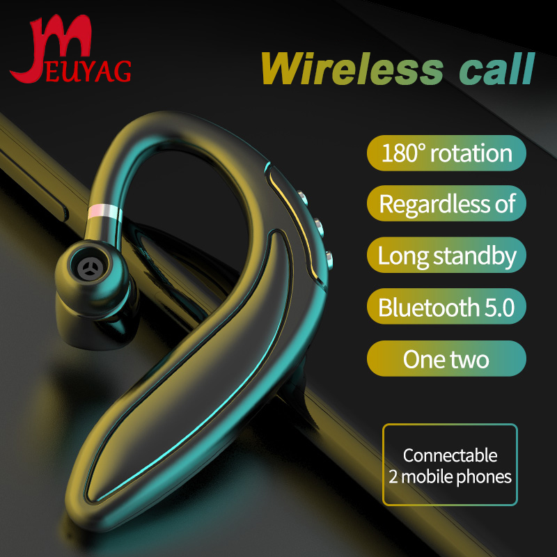MEUYAG wireless Bluetooth 5.0 earphones Stereo noise reduction Business headset  with micphone handsfree phone for smart phone