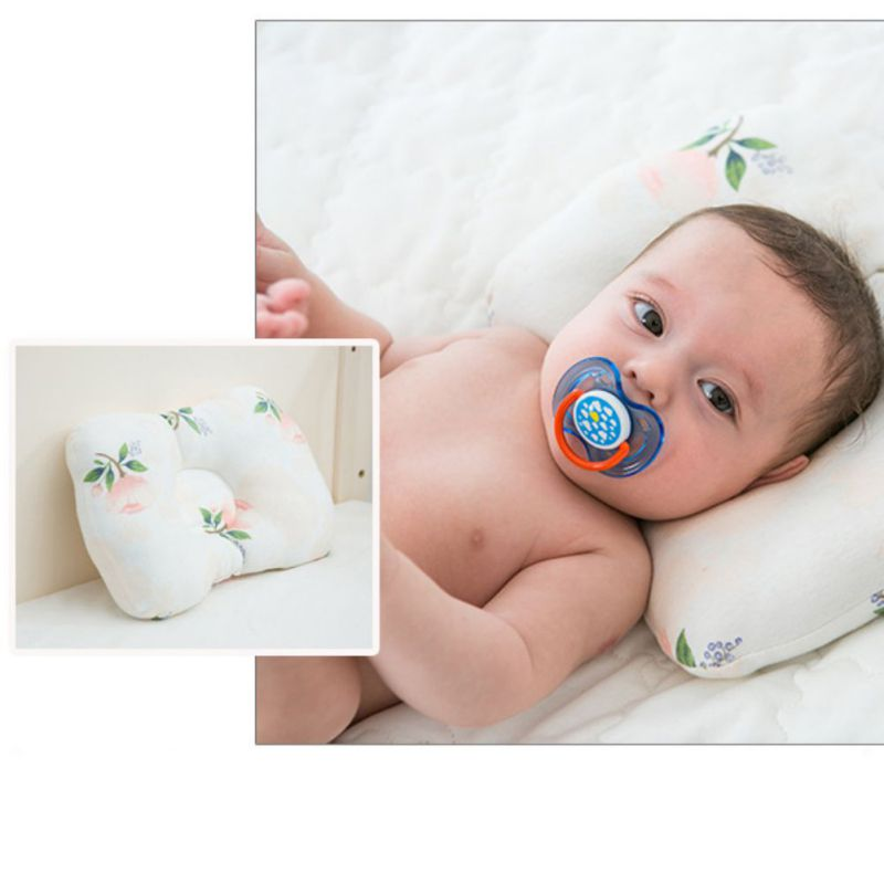 Comfortable Baby Pillow Cotton Anti-Head Stereotype Four Seasons Universal Newborn Anti-Spitting Milk Pillow For Boys And Girls