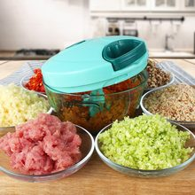 Manual Vegetable Fruit Chopper Cutter Processor Chopper Garlic Cutter Food Fruit Twist Shredder Meat Crusher Kitchen Accessories(China)