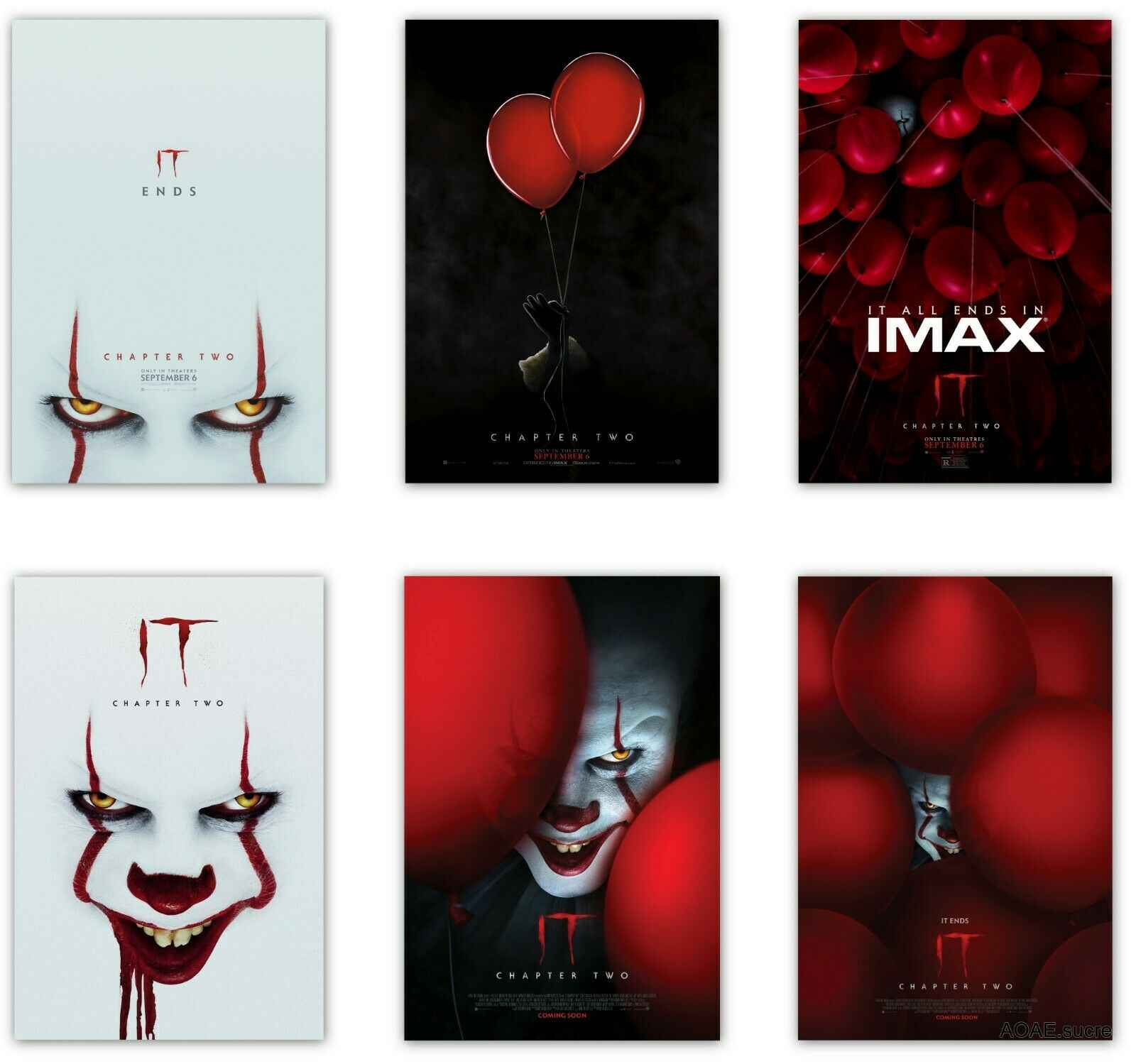 IT Chapter Two 2019 Horror Movie Art Silk Canvas Poster Print 13x20 24x36 inch