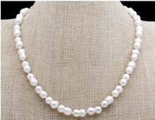 Jewelry Pearl Necklace Baroque Pearl Necklace Choker Necklace South Sea White Freshwater Pearl Necklace Sweater Free Shipping(China)