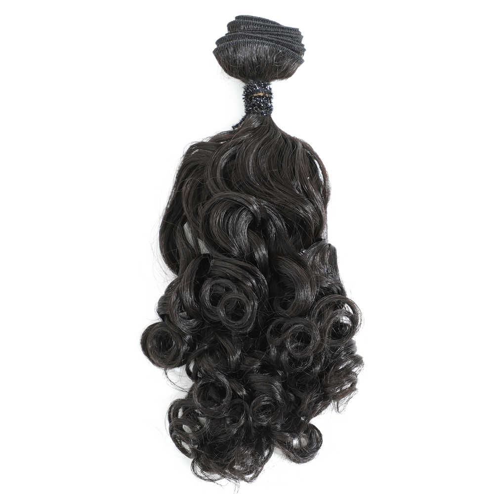 Egg Curly Hair Bundles 18 inches 5 Bundles All In One Pack 240g Hair Extension Synthetic Hair Weaves Natural Color Hair