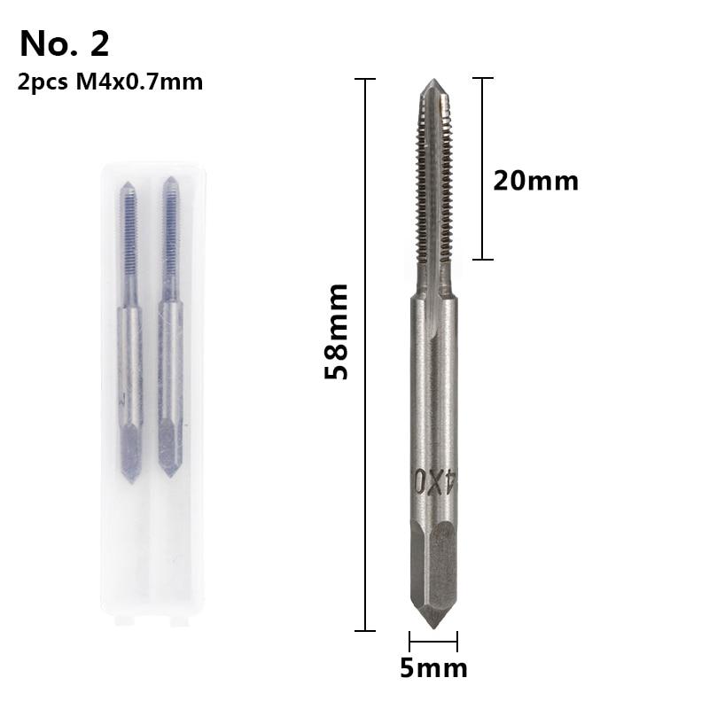 XCAN 2 шт. M3-M16 HSS резьбовой кран сверлильный набор правый ручной кран с винтовой резьбой ручные нарезные инструменты заглушка Метчик сверление металла - Цвет: 2pcs M4x0.7mm