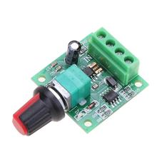DC New 1.8V 3V 5V 6V 12V 2A Low Voltage Motor Speed Controller Module Regulator Dimmer 3KHz Rotary 100K Potentiometer