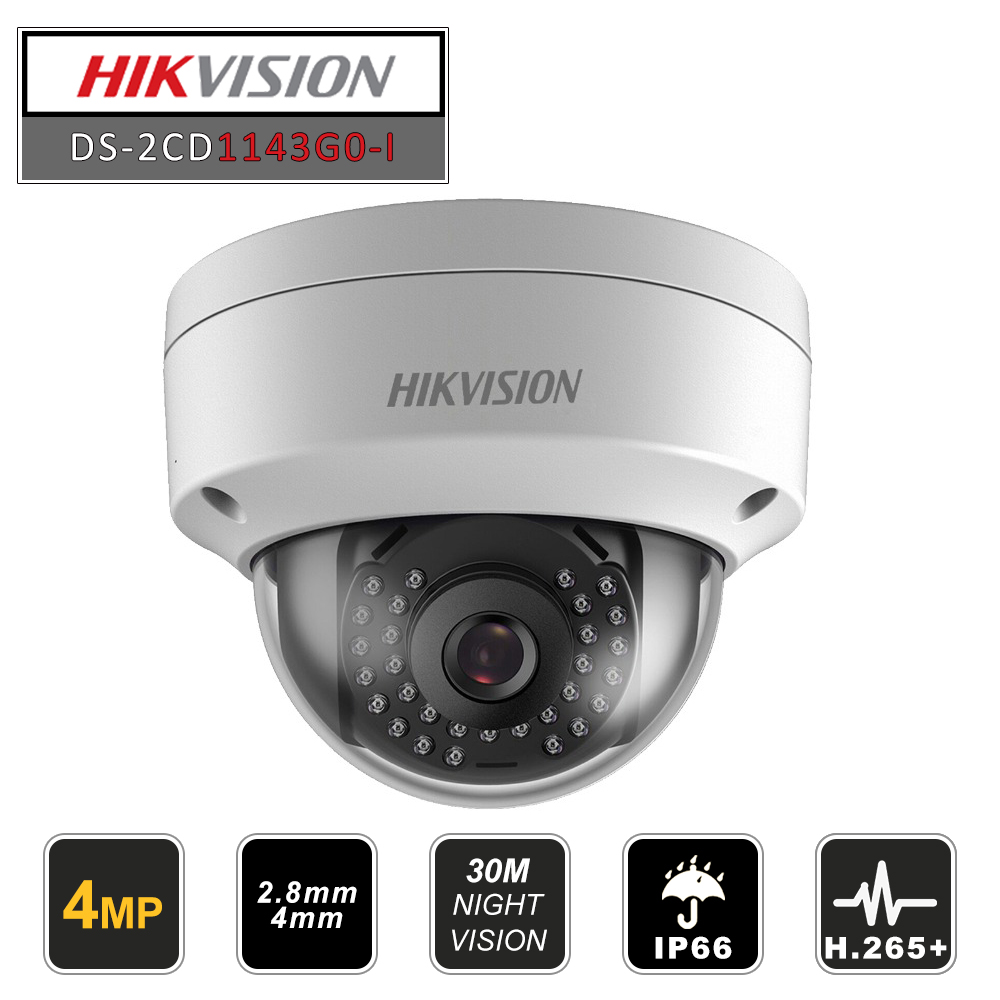 Hikvision Original New Video Surveillance Camera DS-2CD1143G0-I 4MP IR Network Bullet IP Outdoor Camera POE H.265+