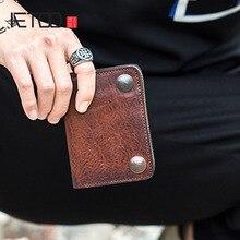 محفظة إيتوو من الجلد قصير بطبقة علوية مدبوغة من الجلد الطبيعي محفظة بسحّاب للقيادة